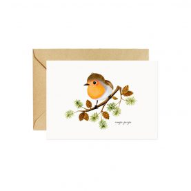Rouge-gorge Greeting Card - OCÉCHOU PAPERS