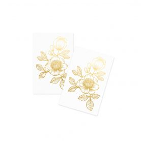 Gold Floral Tattoos - OCÉCHOU PAPERS